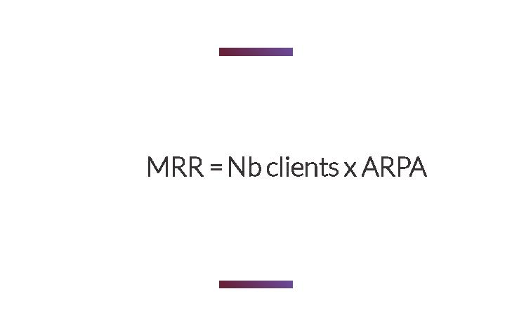formule calcul MRR avec ARPA