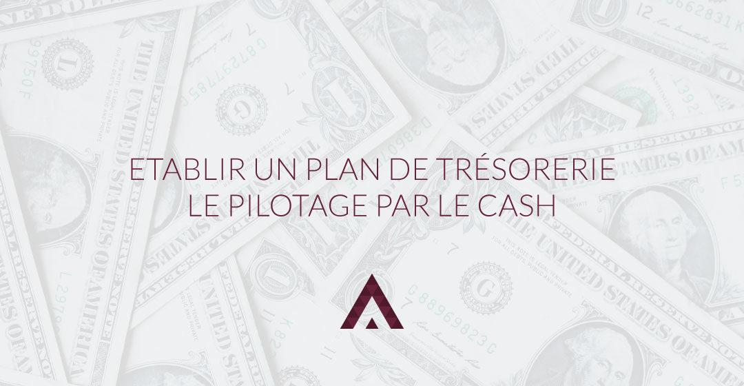 plan de trésorerie, pilotage par le cash